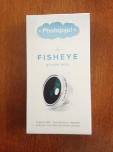Fisheye photo lens.