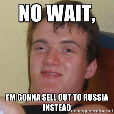 Sell out to Russia