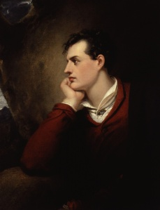 George Gordon Byron, 6th Baron Byron, by Richard Westall, from National Portrait Gallery, London.